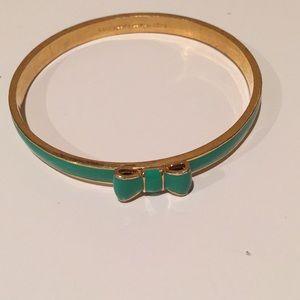 Kate Spade Enamel Green Bow Bracelet